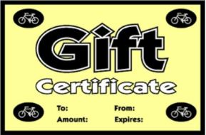 Image Mikes Gift Certificate